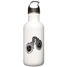Metal Handcuffs and BDSM Symbol Water Bottle