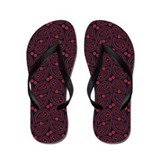 Red and Blue Paisley Flip Flops