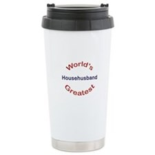 W Greatest Househusband Ceramic Travel Mug