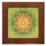 Cute Yantra Framed Tile