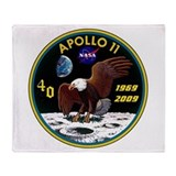 Apollo 11 40th Anniversary Throw Blanket