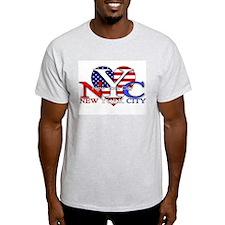 I Love New York City NYC Ash Grey T-Shirt