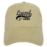 Legend Since 1981 Casquettes de Baseball