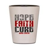 Cute Brain cancer hope Shot Glass