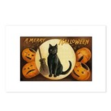 Black Halloween Cat Postcards (Package of 8)