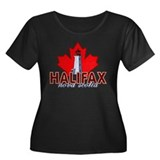 Halifax Lighthouse Women's Plus Size Dark T-Shirt