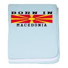 Born In Macedonia baby blanket