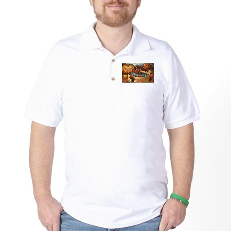 Halloween Apples Golf Shirt