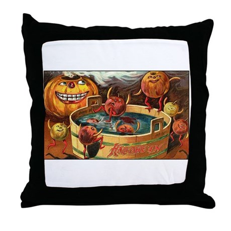 Halloween Apples Throw Pillow