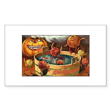 Halloween Apples Rectangle Sticker