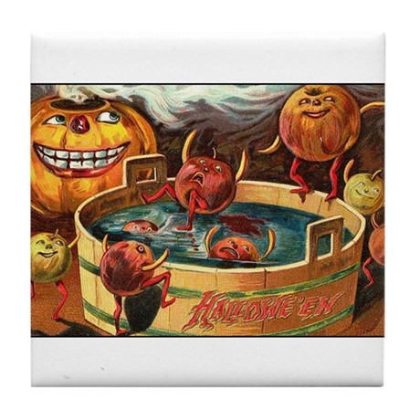 Halloween Apples Tile Coaster