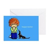 Happy Easter Dachshund Religious Greeting Card
