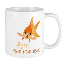 Here Fishy Mug