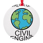 Worlds Greatest Civil Engineer Ornament