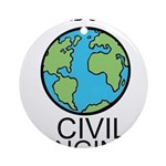 Worlds Greatest Civil Engineer Ornament (Round)