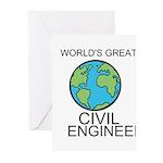 Worlds Greatest Civil Engineer Greeting Cards (Pk