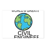 Worlds Greatest Civil Engineer Postcards (Package