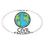 Worlds Greatest Civil Engineer Sticker