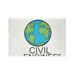 Worlds Greatest Civil Engineer Rectangle Magnet (1