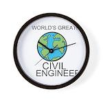 Worlds Greatest Civil Engineer Wall Clock