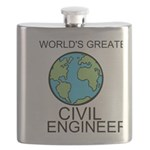 Worlds Greatest Civil Engineer Flask
