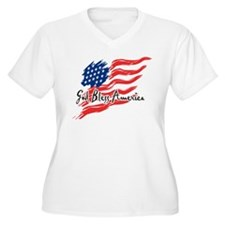 "American Flag inscribed ""God Bless America"" Women'"