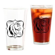 Navy LDO Drinking Glass