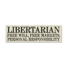 Libertarian Freedom Car Magnet 10 x 3