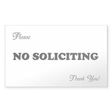 NO SOLICITING FUN Storm Door Decal