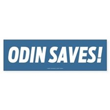 Odin Saves! Bumper Car Sticker
