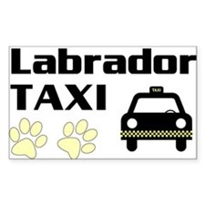 Labrador Taxi Decal