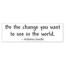 """Be The Change"" Bumper Bumper Sticker"