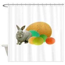 Bunny Colored Eggs Shower Curtain