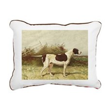 English Pointer Rectangular Canvas Pi