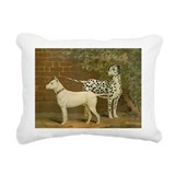 Dalmatian and Terrier Rectangular Canvas Pillow