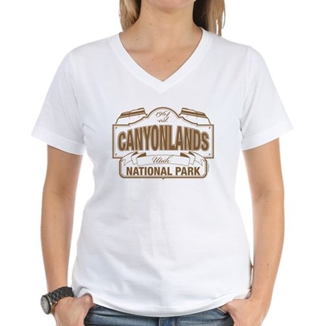 Canyonlands National Park Women's V-Neck T-Shirt
