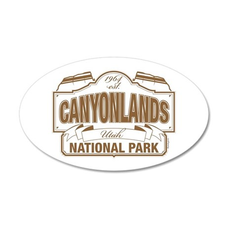 Canyonlands National Park 20x12 Oval Wall Decal