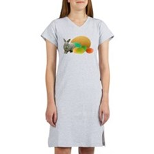 Bunny Colored Eggs Women's Nightshirt