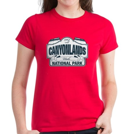 Canyonlands Blue Sign Women's Dark T-Shirt