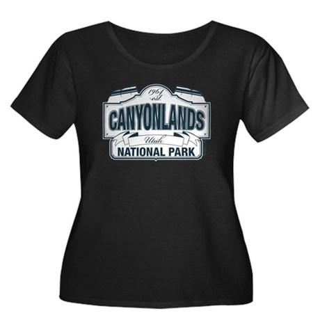 Canyonlands Blue Sign Women's Plus Size Scoop Neck