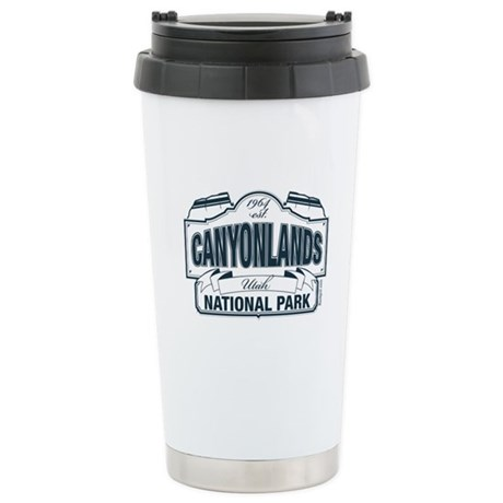 Canyonlands Blue Sign Ceramic Travel Mug