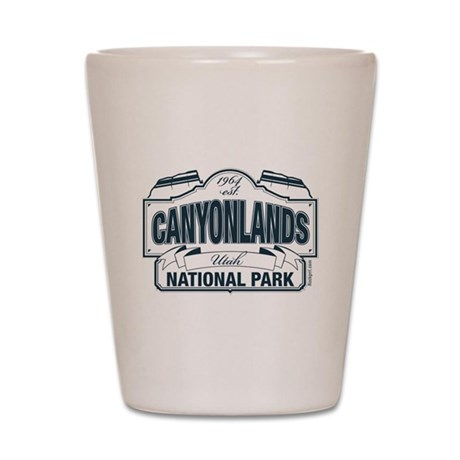 Canyonlands Blue Sign Shot Glass