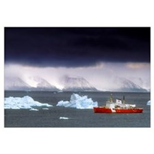 Canadian Coastguard Icebreaker Visiting The Coast