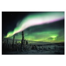 Multi Coloured Aurora, Eagle Plains, Yukon