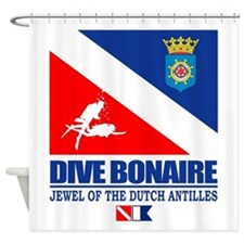 Dive Bonaire Shower Curtain