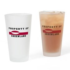 Property Of Greenland Drinking Glass