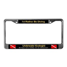 Underwater Ecologist (Diver), License Plate Frame
