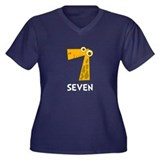 Number Seven Plus Size T-Shirt