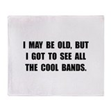 Old See Cool Bands Throw Blanket