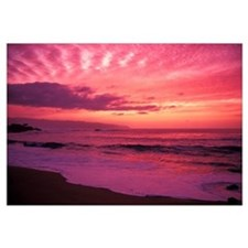 Hawaii, Oahu, North Shore, Waimea Bay At Sunset, P